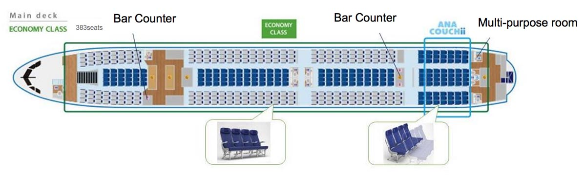 ANA A380 Main Deck Seatmap