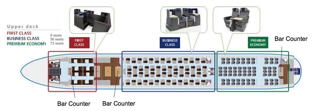 ANA Upper Deck Seatmap