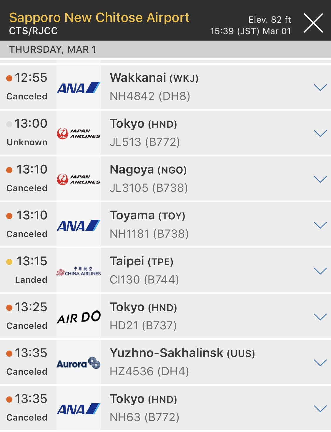 FlightRadar24 All Flights Cancelled