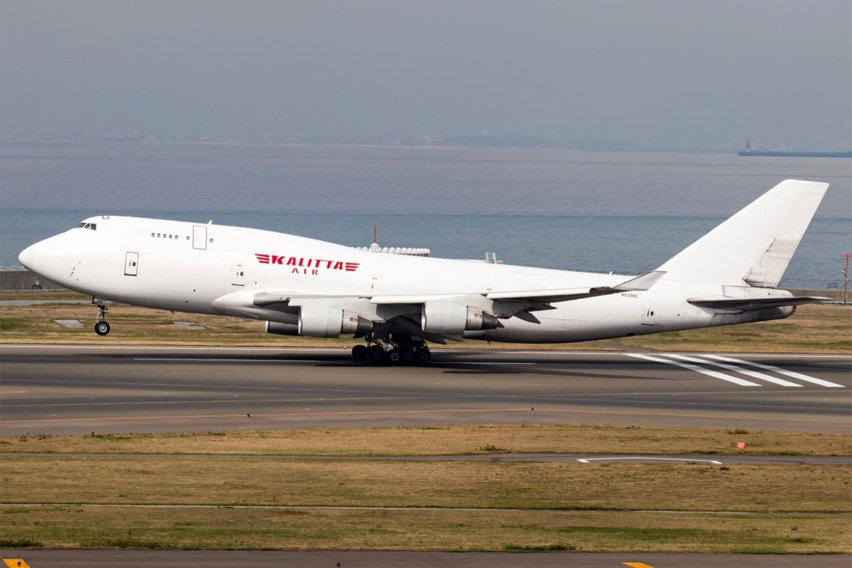 Kalitta Air 747-400BCF at Nagoya Centrair