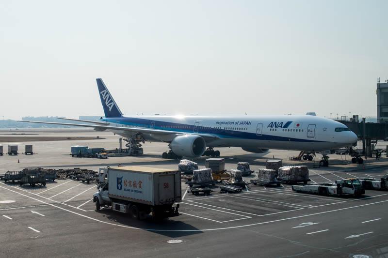 ANA Boeing 777-300ER in Beijing