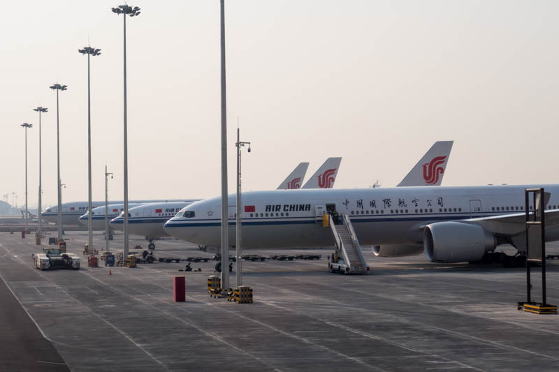 Air China Aircraft in Beijing