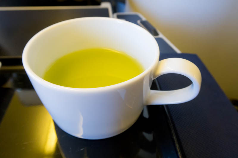 Green Tea Onboard ANA Flight from Beijing to Tokyo