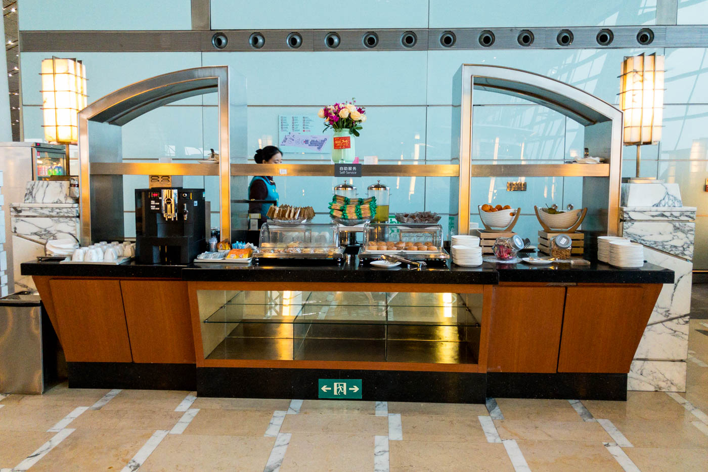 Buffet in Air China Business Class Lounge