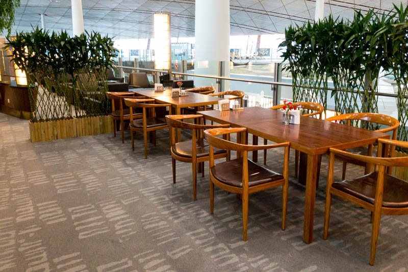 Air China Business Class Lounge Dining Area