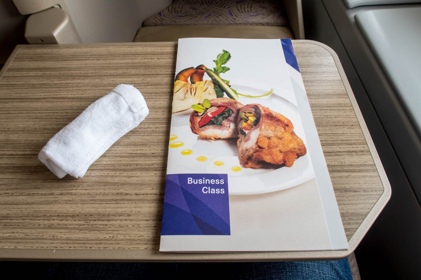 Asiana Airlines Business Class Menu
