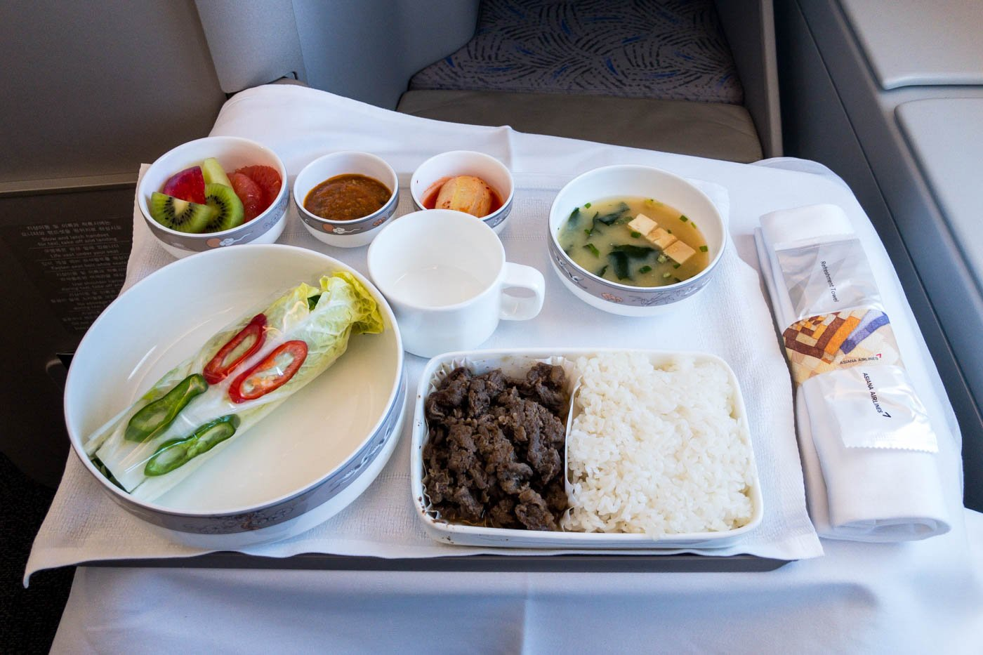Asiana Airlines Ssambap Business Class Lunch