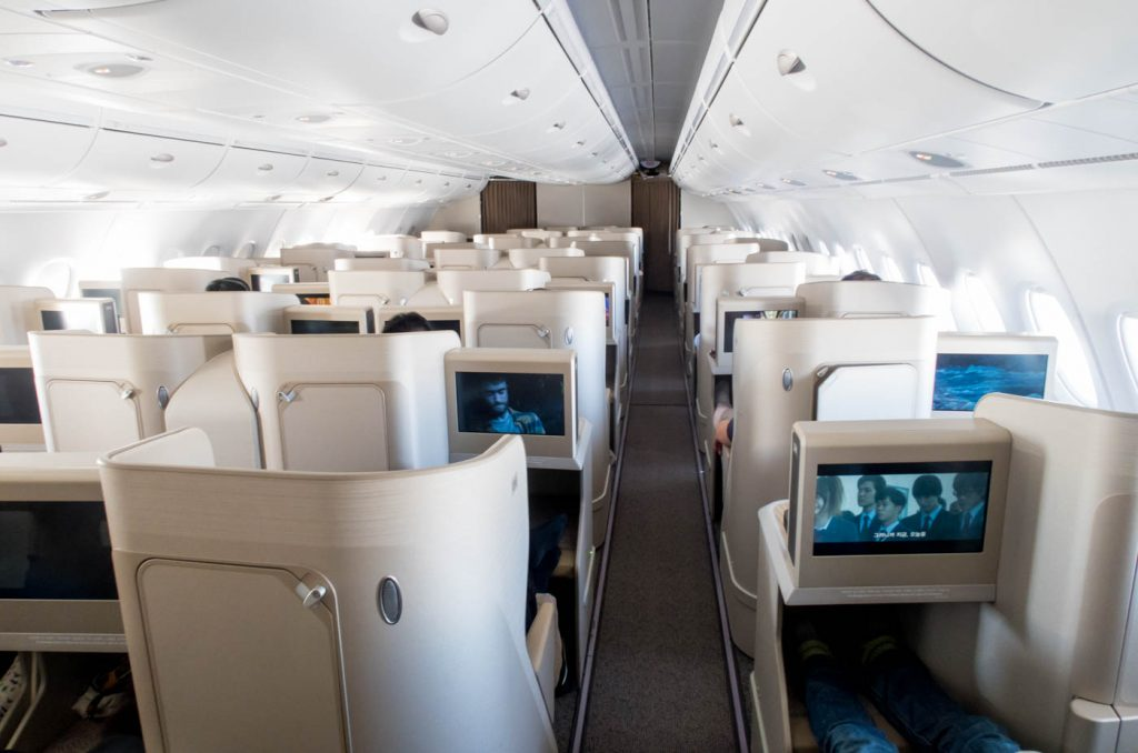 Asiana Airlines A380 Business Class Cabin