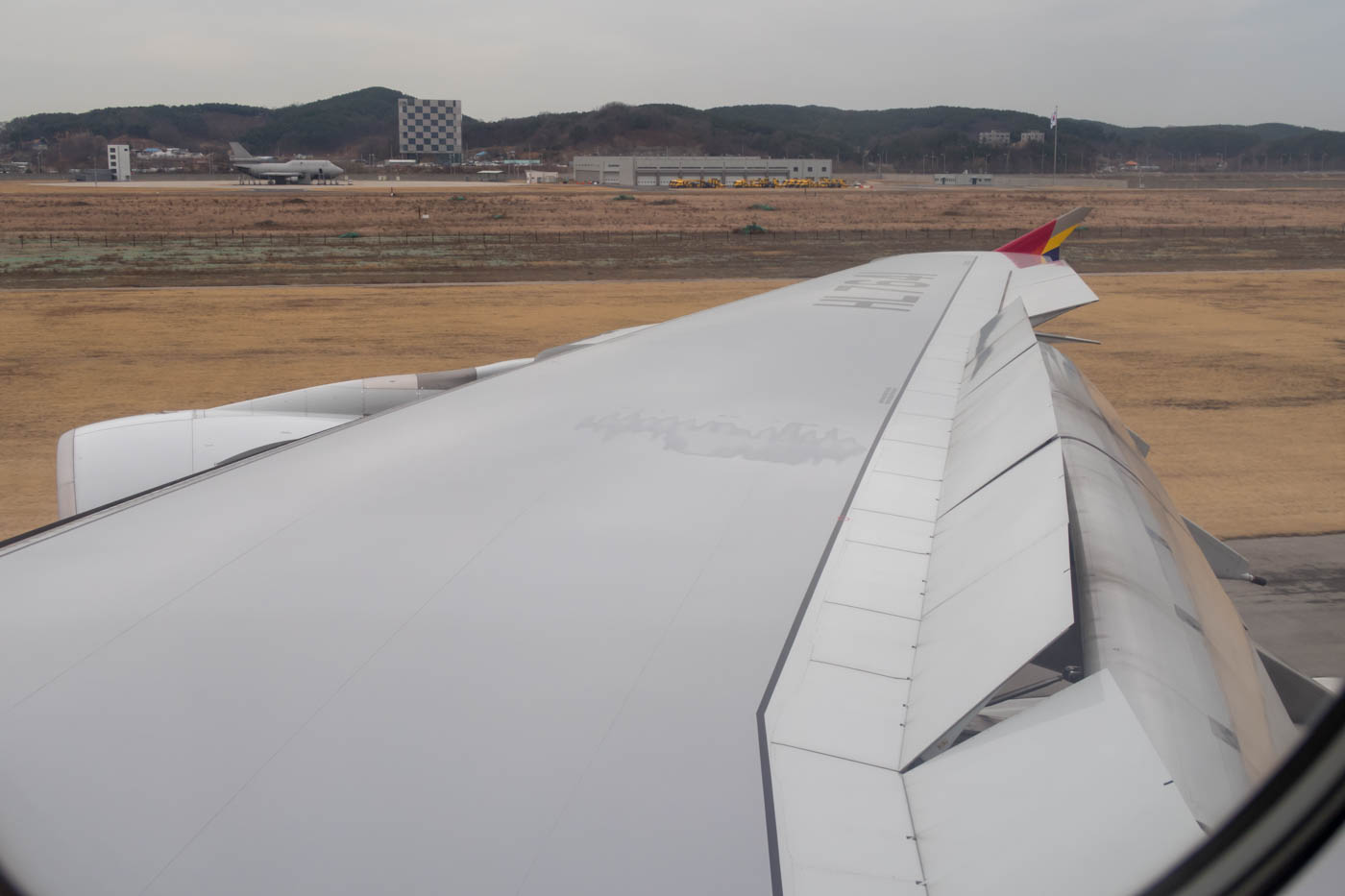 Landing at Seoul Incheon Airport