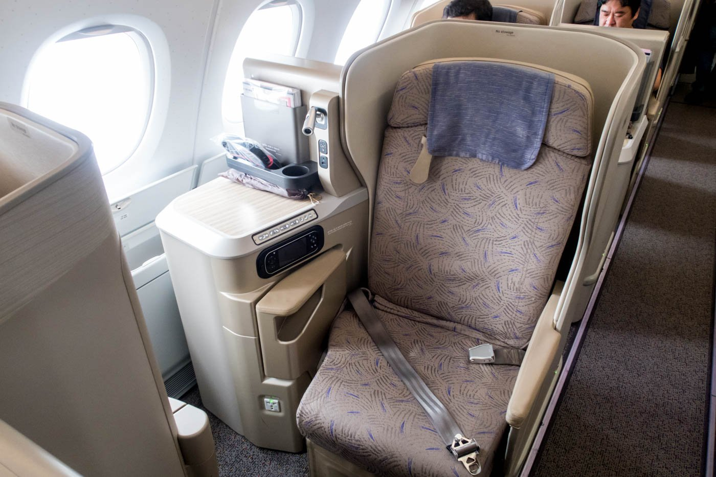 Asiana Airlines A380 Aisle Business Class Seat