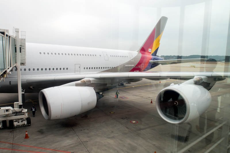 Asiana Airlines A380 in Seoul