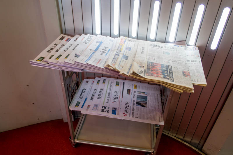 Newspapers Provided by Asiana Airlines
