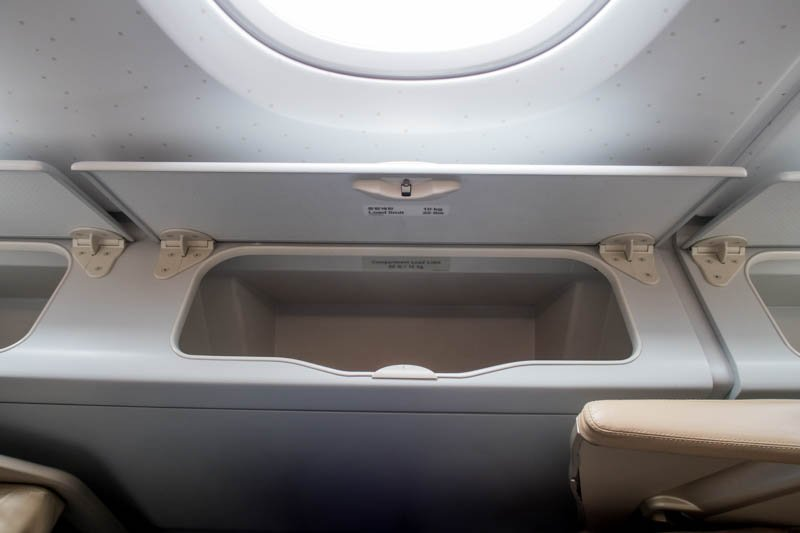 Storage Bin Next to A380 Upper Deck Windows