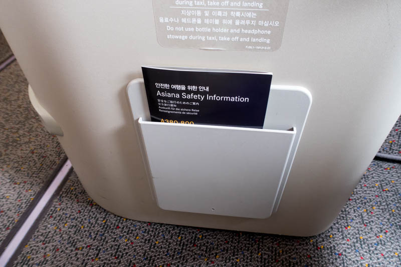 Asiana Airlines Safety Card