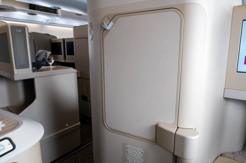 Tray Table in Asiana Business Class
