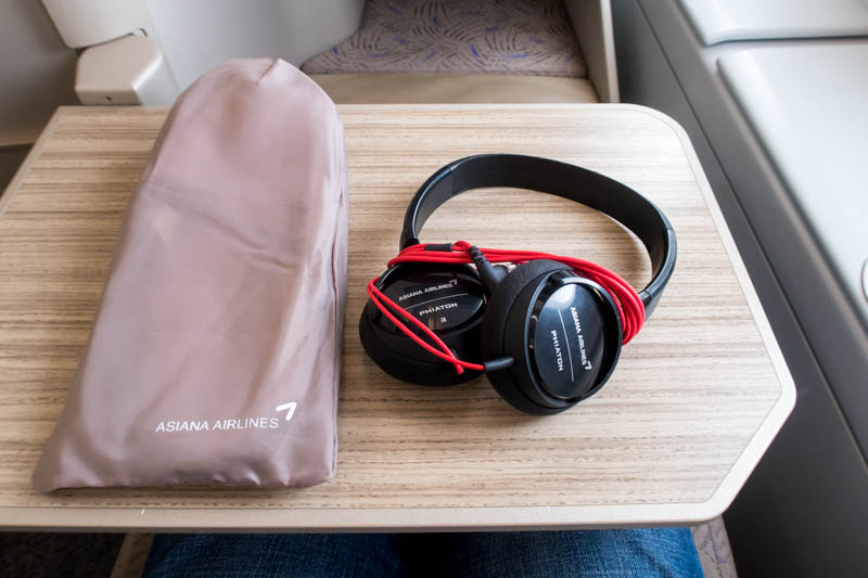 Asiana Airlines Business Class Slippers and Headset