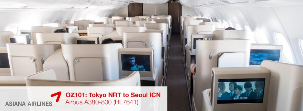 Flight Review: Asiana Airlines A380-800 Business Class from Tokyo Narita to Seoul Incheon