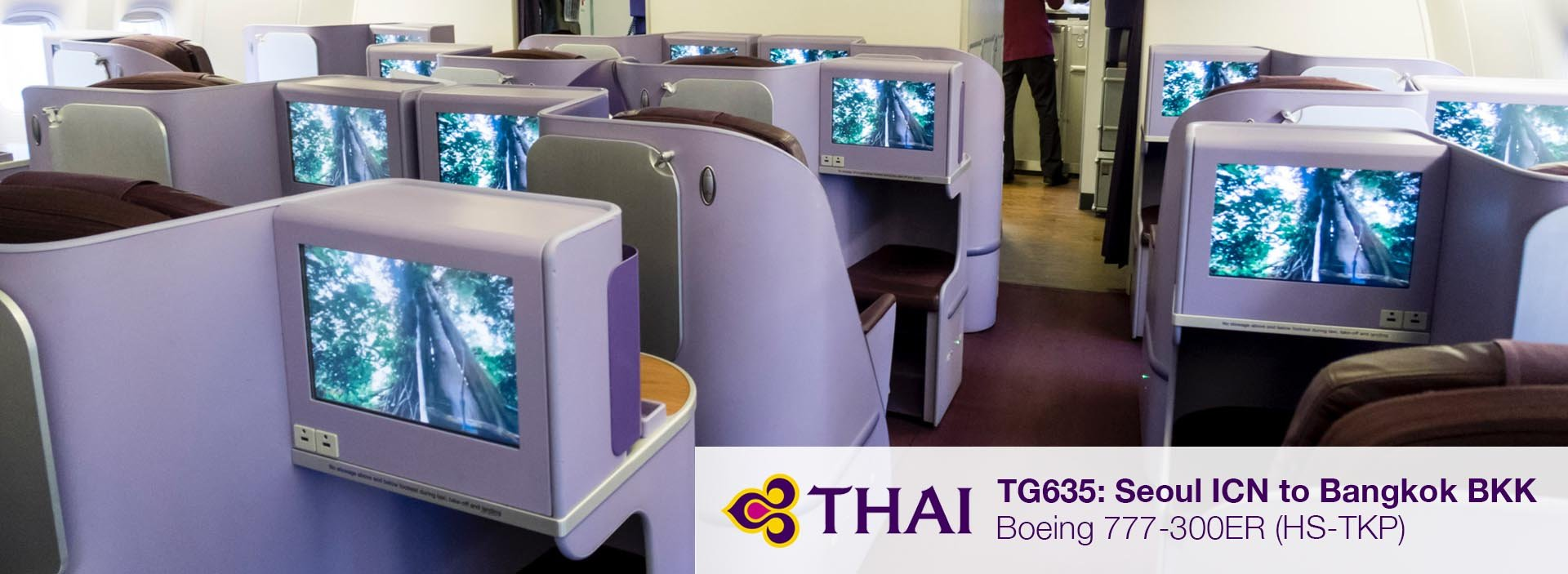 Flight Review: Thai Airways 777-300ER Business Class from Seoul to Bangkok via Taipei