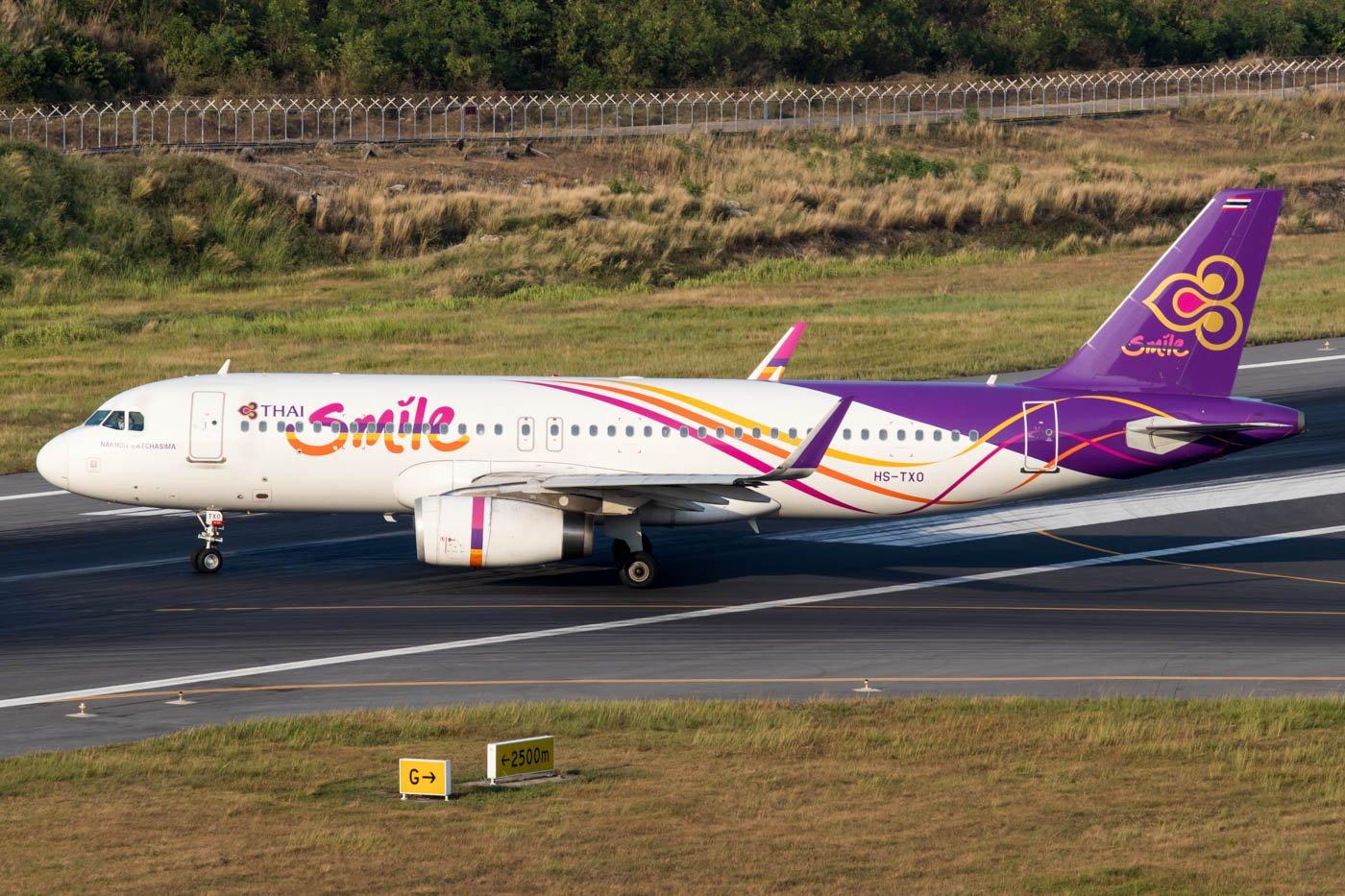 Thai Smile A320 at Phuket Airport