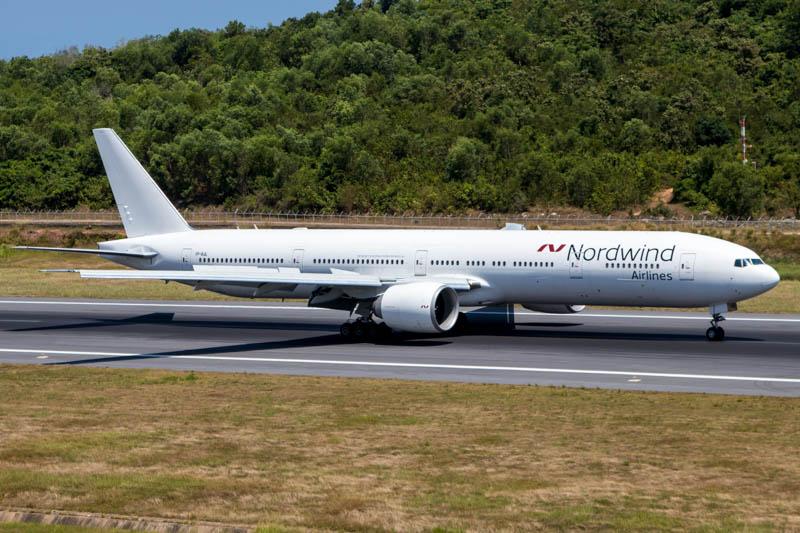 Nordwind 777-300ER at Phuket Airport