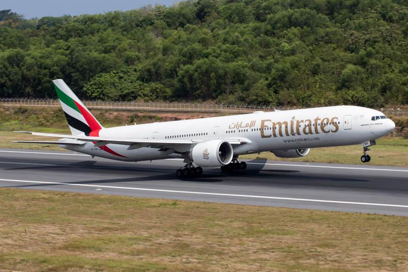 Emirates 777-300ER at Phuket Airport