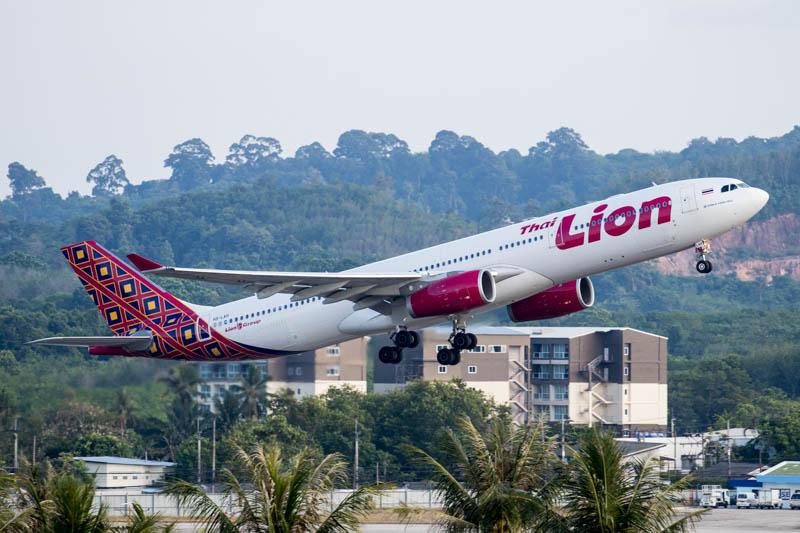 Lion Air A330 at Phuket Airport