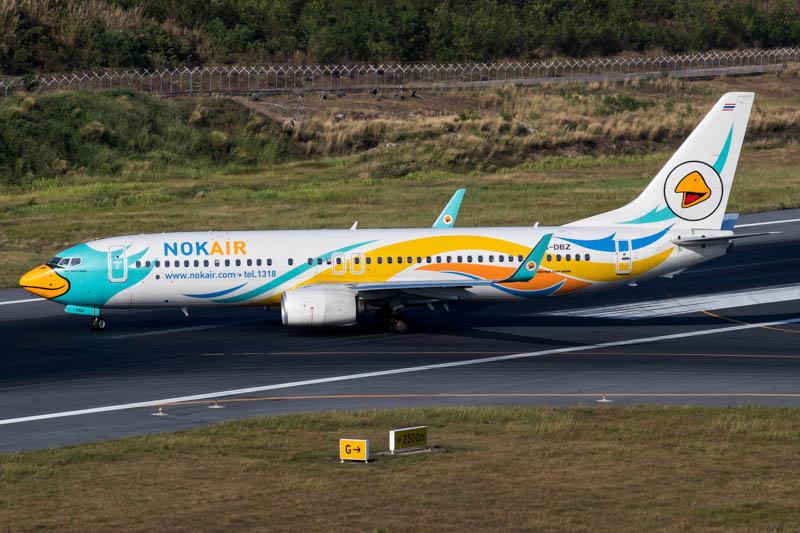 Nok Air 737-800 at Phuket Airport
