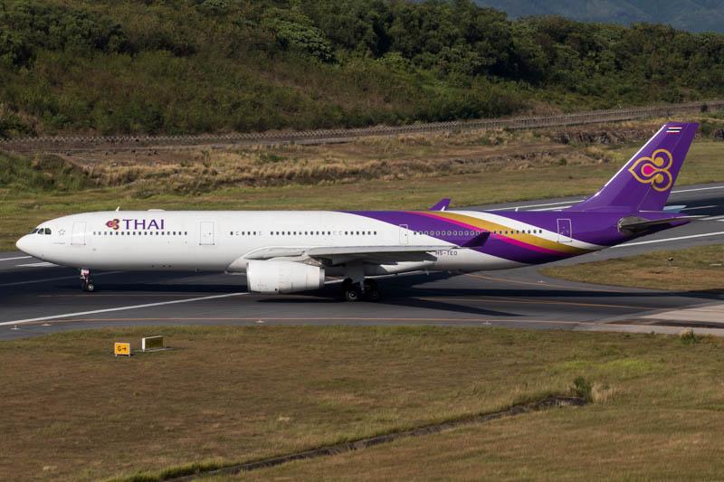 Thai Airways A330 at Phuket Airport