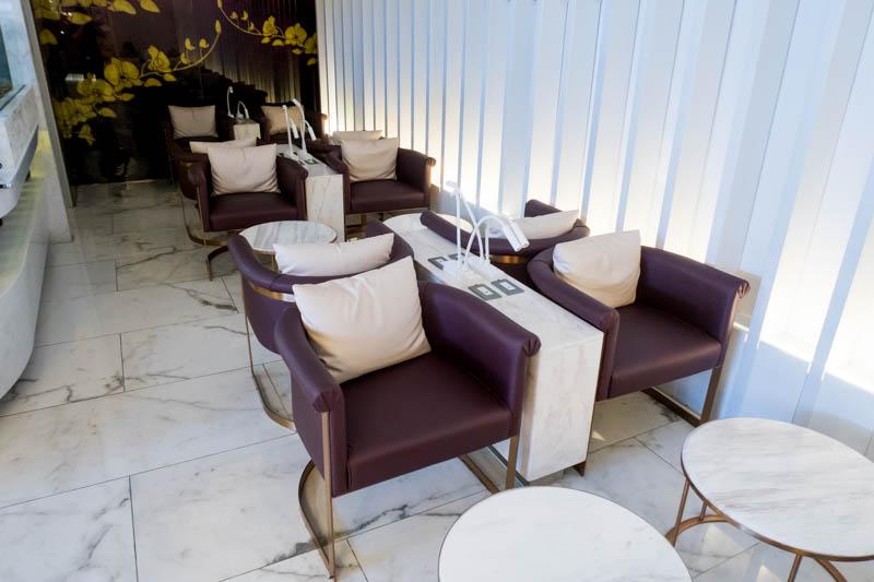 Seating in International Thai Airways Lounge at Phuket