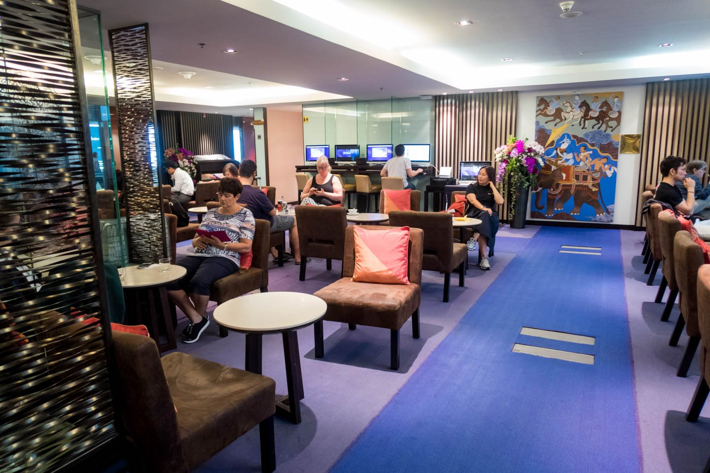 Thai Airways Royal Silk Lounge Domestic North OVerview