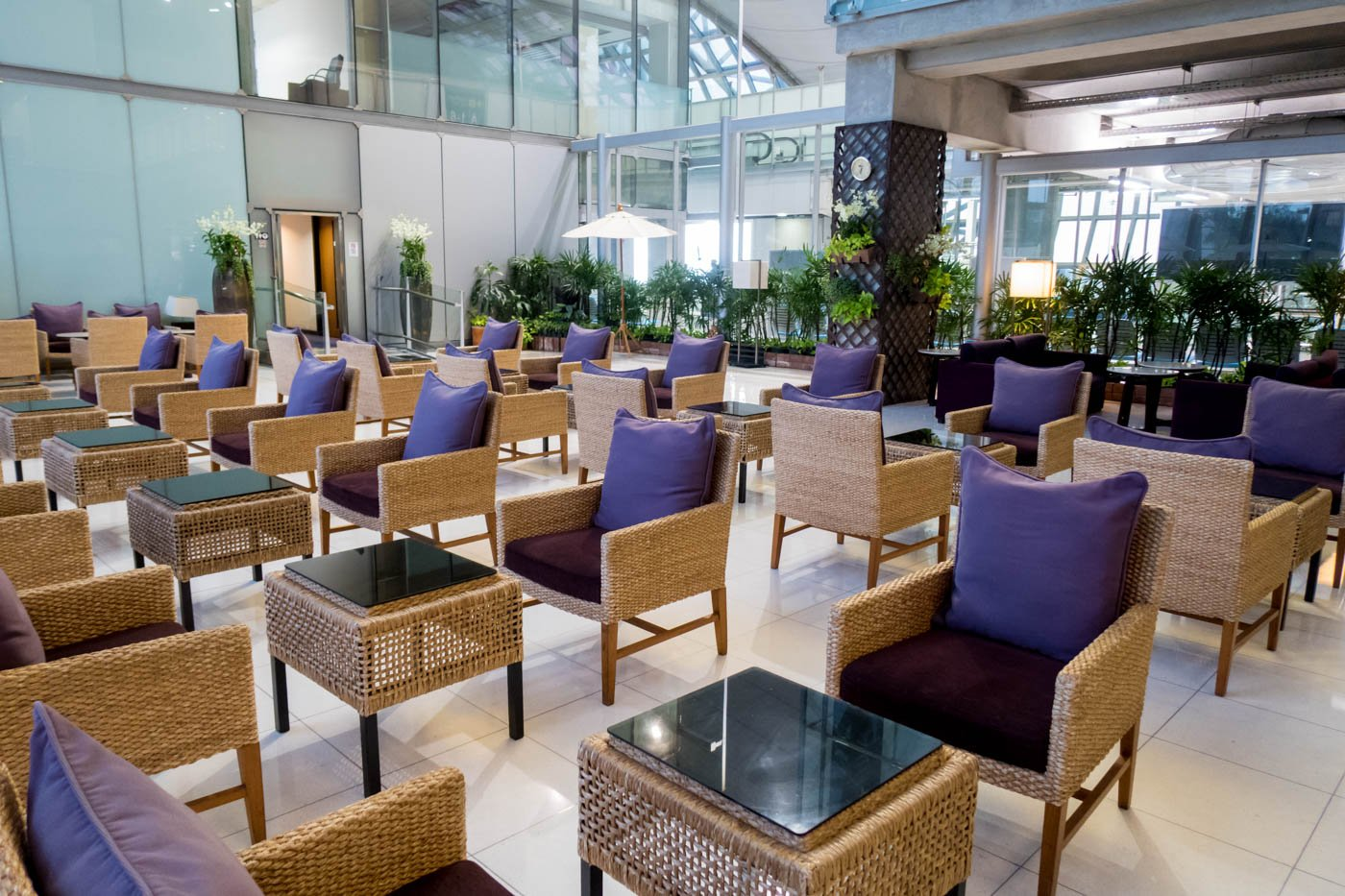 Thai Airways Domestic Royal Silk Lounge Garden Area
