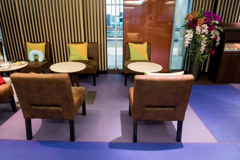 Seating in Thai Airways Business Class Lounge for Domestic Flights