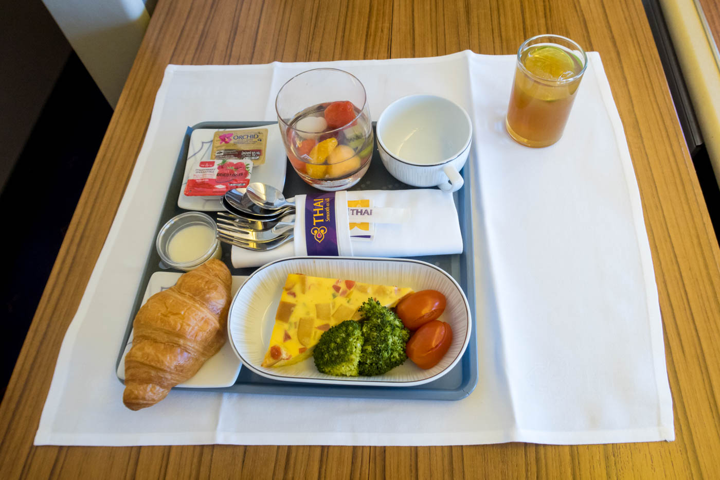 Thai Airways Domestic Business Class Breakfast