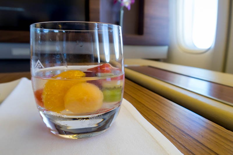 Domestic Business Class Dessert on Thai Airways