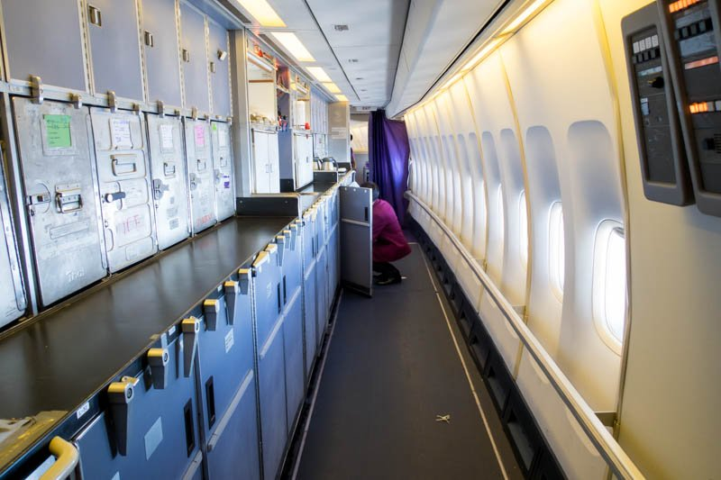 Thai Airways Boeing 747-400 Galley
