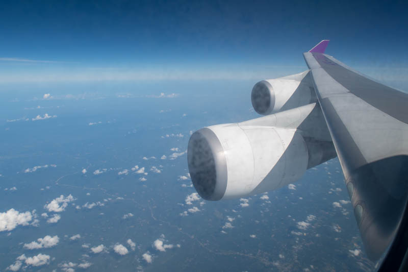 Thai Airways 747-400 Wing