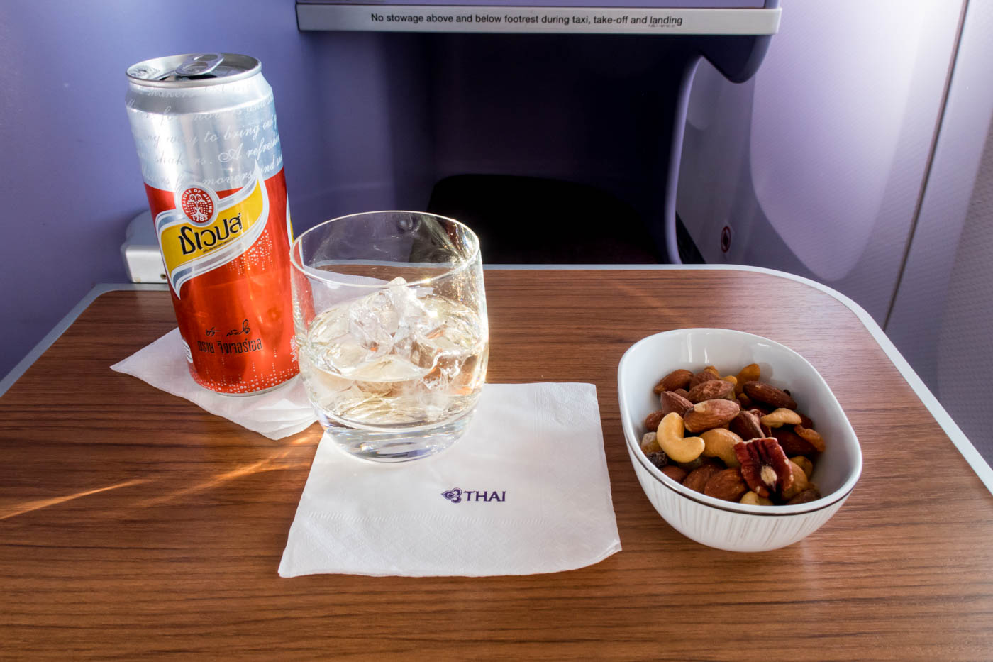 Thai Airways Nuts and Ginger Ale