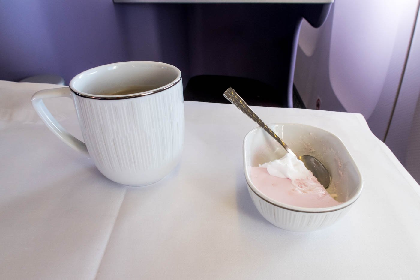Dessert and Tea Onboard Thai Airways