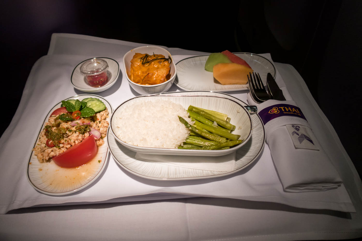 Thai Airways Business Class Fish Curry Dish