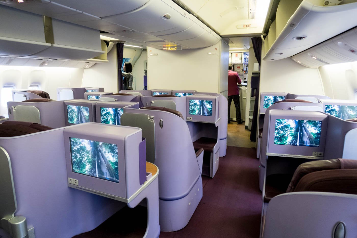 Thai Airways Boeing 777-300ER Business Class Cabin