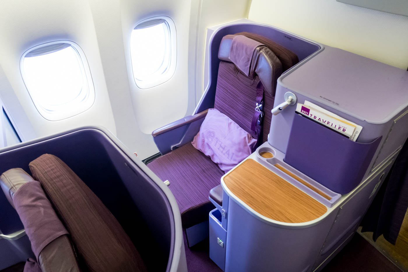 Window Seat Onboard Thai Airways 777-300ER