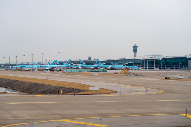 Korean Air Aircraft at Seoul Incheon Terminal