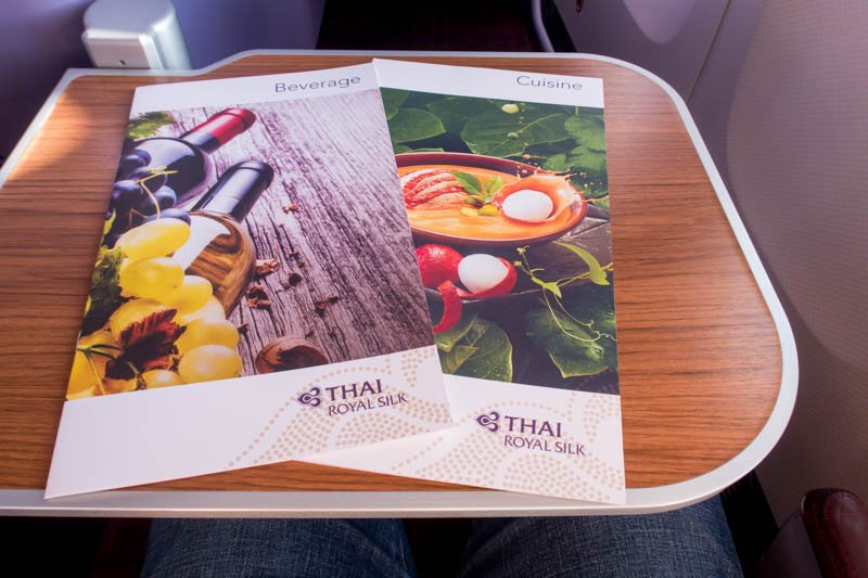 Thai Airways Business Class Menus
