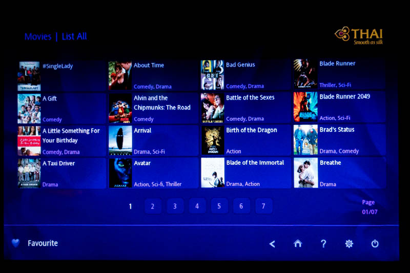 Thai Airways IFE Movies