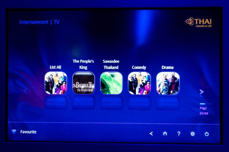 Thai Airways IFE TV Shows