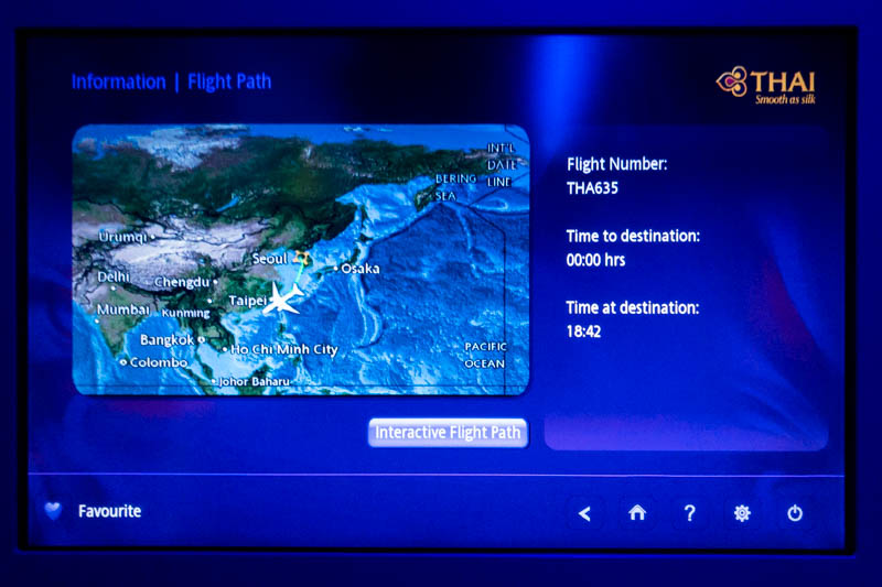 Thai Airways IFE Map