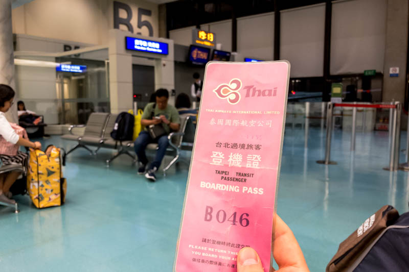 Thai Airways Transit Card in Taipei