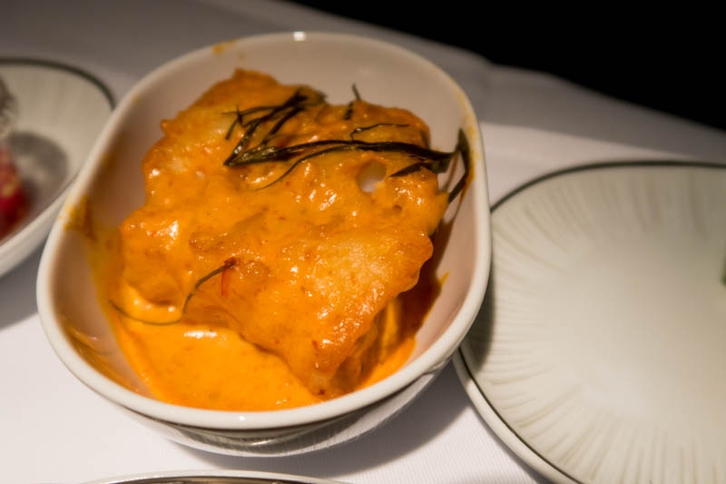 Thai Airways Business Class Fish Curry