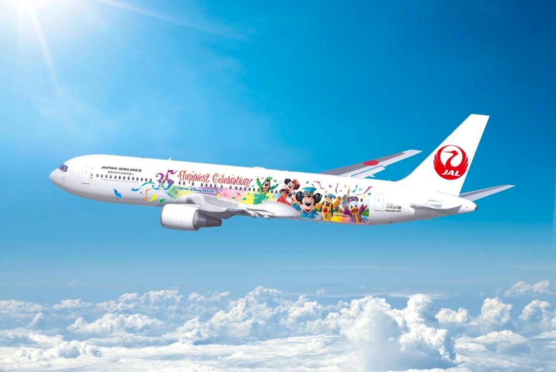 JAL Celebration Jet: Special Livery for Tokyo Disney Resort's 35th