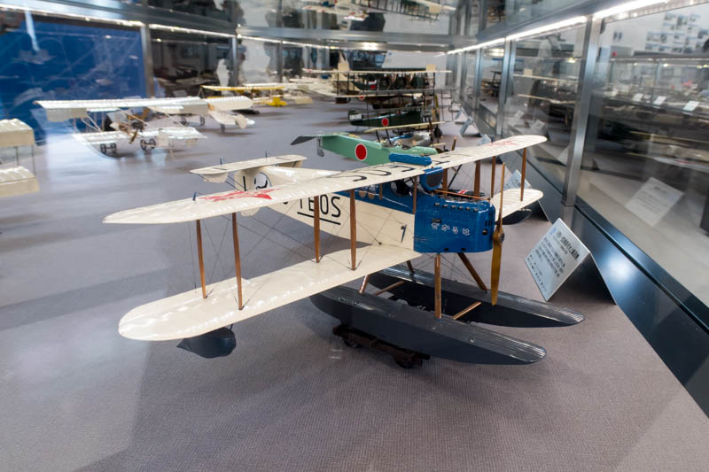 Prop Biplane Model in Nagoya Komaki Aviation Museum